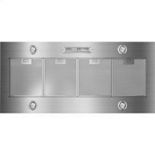 48-Inch Custom Hood Liner, Euro-Style Stainless Handle