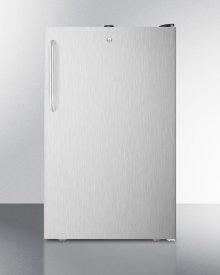 """20"""" Wide Built-in Undercounter All-freezer, -20 C Capable With A Lock, Stainless Steel Door, Towel Bar Handle and Black Cabinet"""
