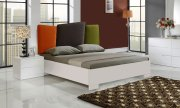 Monza Lacquer Bed With Linen Headboard Product Image