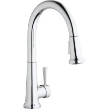 Elkay Single Hole Deck Mount Everyday Kitchen Faucet with Pull-down Spray Forward Only Lever Handle Chrome
