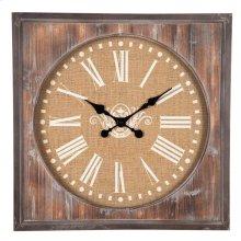 Aged Wood Wall Clock