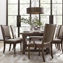 """Compass 74"""" Trestle Dining Table"""