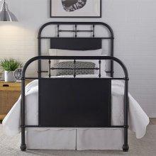 Twin Metal Bed - Black