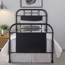 Twin Metal Bed - Black