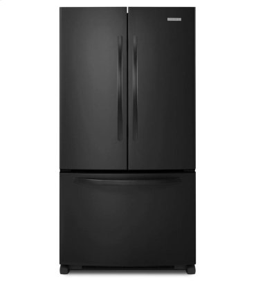 25 Cu. Ft. Standard-Depth French Door Refrigerator, Architect® Series II - Black