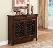 Cherry 2-Door, 2-Drawer Scroll Console Product Image