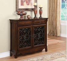 RED HOT BUY! BE HAPPY! Cherry 2-Door, 2-Drawer Scroll Console
