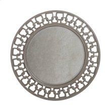 Osbourne Mirror in Muted Silver Leaf