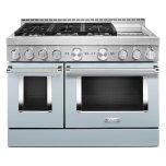 KitchenaidKitchenAid(R) 48'' Smart Commercial-Style Gas Range with Griddle - Misty Blue