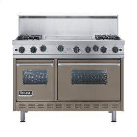 "Stone Gray 48"" Open Burner Range - VGIC (48"" wide, four burners 24"" wide griddle/simmer plate)"
