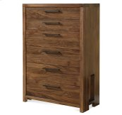 Terra Vista Six Drawer Chest Casual Walnut finish