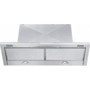 DA 3486 30-inch slimline ventilation hood with energy-efficient LED lighting and backlit controls for easy use.