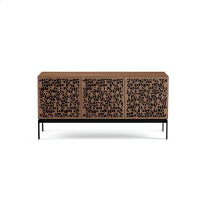 Triple Wide Cabinet W Console Base in Mosaic Doors Natural Walnut -