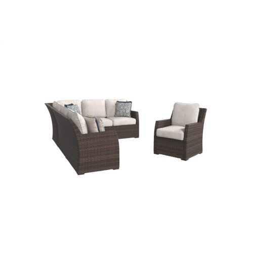 Sofa SEC/Chair w/CUSH (3/CN)