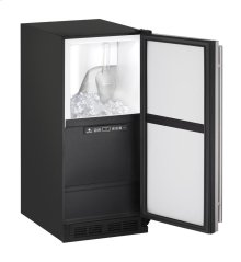 """15"""" Clear Ice Machine Black Solid Field Reversible (Pump Included)"""