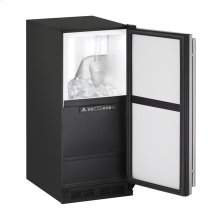 """15"""" Clear Ice Machine Stainless Solid Field Reversible (Pump Included)"""
