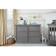Manor Grey Foothill-Louis 6-Drawer Dresser