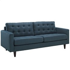 Empress Upholstered Fabric Sofa in Azure Product Image