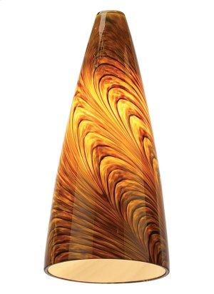 Caramel Swirl Pendant Glass Product Image