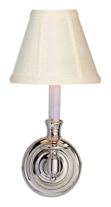 Visual Comfort S2110PN-T Studio French Library 1 Light 6 inch Polished Nickel Decorative Wall Light in Tissue Silk