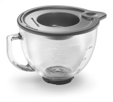5 Quart Glass Bowl with handle, pouring spout, measuring lines and lid. Fit all tilt head models with the exception of Accolade.