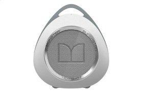 SuperStar HotShot Portable Bluetooth Speaker - White with Chrome