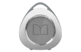 SuperStar HotShot Portable Bluetooth Speaker - White with Chrome