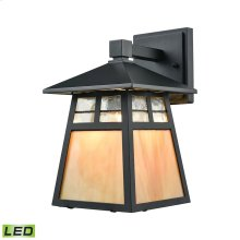 Cottage 1-Light Outdoor Wall Lamp in Matte Black - Includes LED Bulb