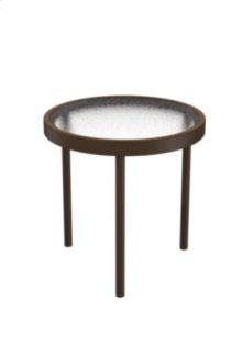 """Acrylic 16"""" Round Tea Table"""