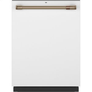 Caf(eback) Stainless Interior Built-In Dishwasher with Hidden Controls - MATTE WHITE