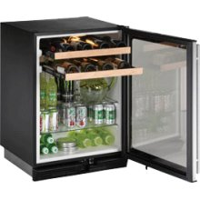 "Stainless Field reversible 1000 Series / 24"" Beverage Center / Double Zone Temperature System"