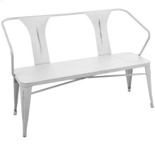 Waco Bench - Vintage White Metal