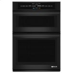 """JENN-AIRBlack Floating Glass 30"""" Microwave/Wall Oven with V2 Vertical Dual-Fan Convection System"""