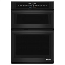 """Black Floating Glass 30"""" Microwave/Wall Oven with V2 Vertical Dual-Fan Convection System"""