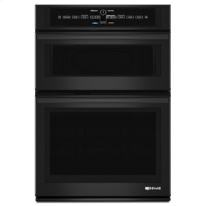 "JENN-AIRBlack Floating Glass 30"" Microwave/Wall Oven with V2 Vertical Dual-Fan Convection System"