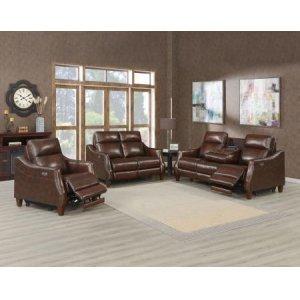 Steve Silver Co.Akari 3-Piece Leather Dual-Power Reclining Set (Sofa, Loveseat & Chair)