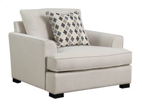 Chair W/1 Accent Pillow-beige#m10144-linen
