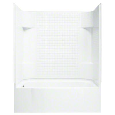 "Accord®, Series 7114, 60"" x 30"" x 74"" AFD Tile Bath/Shower - Left-hand Drain - White"