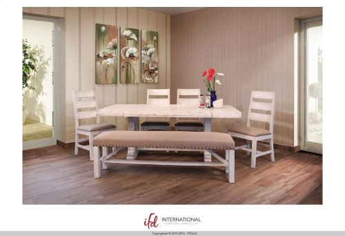 Breakfast & Bedroom Bench - Upholstered Seat 100% Polyester with a linen apearance