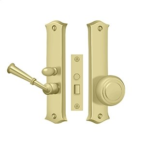 Storm Door Latch, Classic, Mortise Lock - Polished Brass