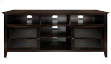 No Tools Assembly Dark Espresso Finish Wood A/V Cabinet This impressive Dar...