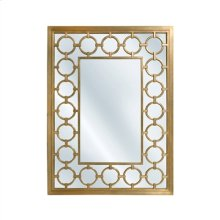 Antique Gold Finished Mirror with Carved Circilo Accents
