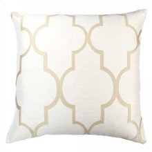 Paxton Contemporary Decorative Feather and Down Throw Pillow In Dulce Jacquard Fabric