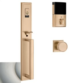 Satin Nickel with Lifetime Finish Evolved Hollywood Hills Full Escutcheon Handleset
