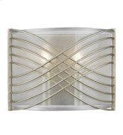 Zara 2 Light Wall Sconce in White Gold