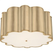 Visual Comfort AH4021G-FA Alexa Hampton Markos 4 Light 26 inch Gild Flush Mount Ceiling Light, Grande