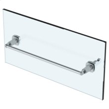 """6"""" Shower Door Pull With Knob/ Glass Mount Towel Bar With Hook"""