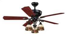 """French Country 52"""" Ceiling Fan Oil Shale"""