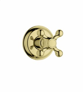Trim, Volume control with cross handle - Infinity Polished Brass
