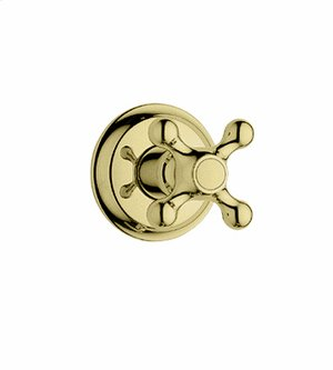 Trim, Volume control with cross handle - Infinity Polished Brass Product Image